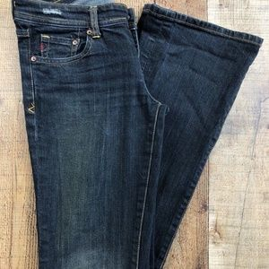 Seven 7 Low Rise Boot Cut Dark Wash Jeans